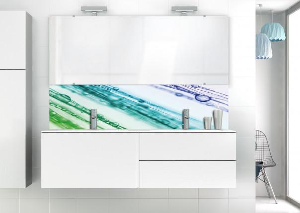 Panneau vasque Gouttes irisées motif inversé