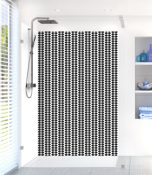 Panneau de douche Petites Feuilles  couleur noir