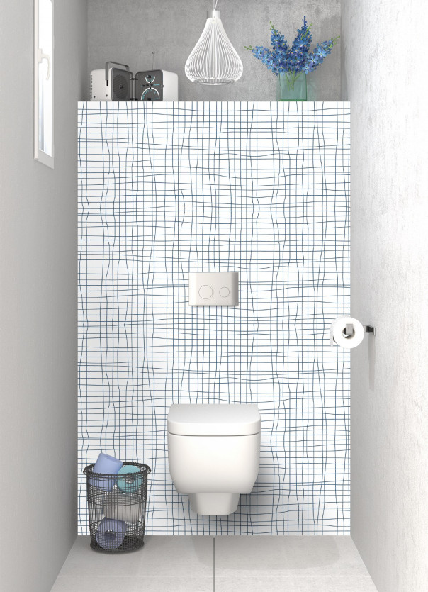 Panneau WC Stockholm  Bleu