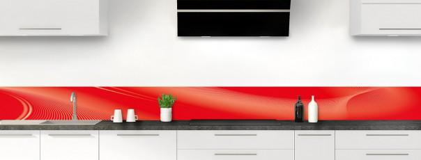 Crédence de cuisine Volute couleur rouge vif dosseret motif inversé