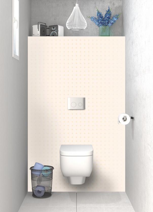 Panneau WC Petits carrés couleur magnolia