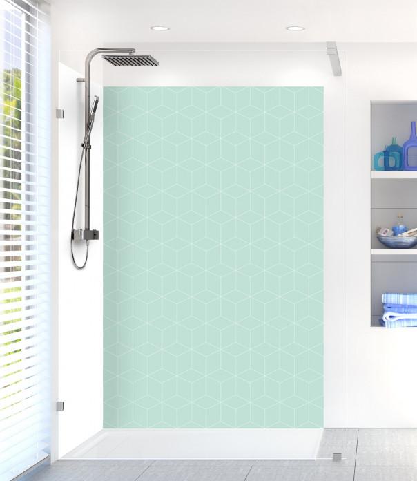 Panneau de douche Cubes en relief couleur vert pastel