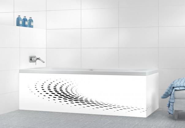 Panneau tablier de bain Nuage de points couleur noir motif inversé