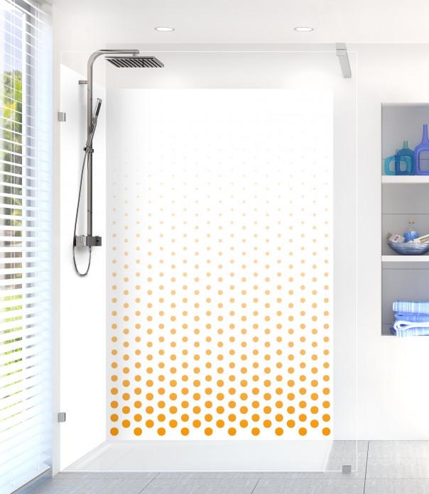 Panneau de douche Pluie de points couleur abricot