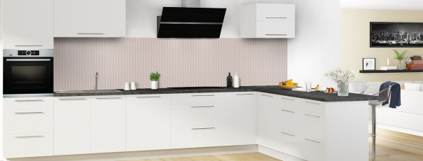 Crédence de cuisine Pointillés couleur argile panoramique en perspective