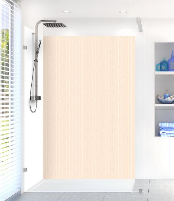 Panneau de douche Origami  couleur sable
