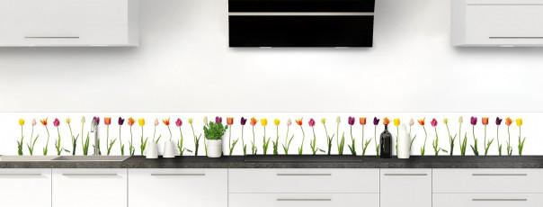 Crédence de cuisine Tulipes dosseret