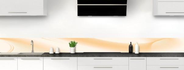 Crédence de cuisine Volute couleur magnolia dosseret motif inversé