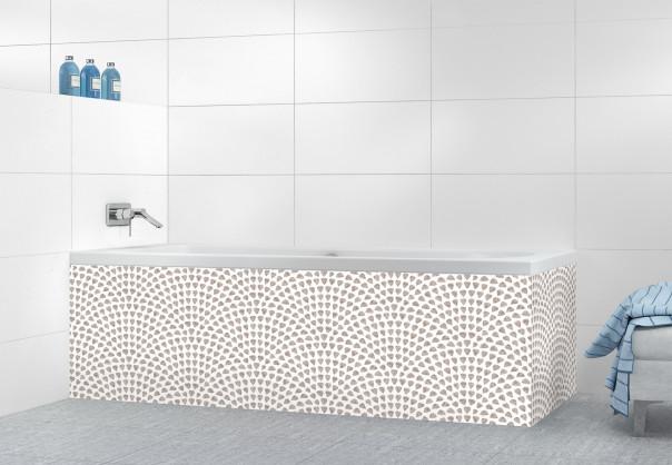 Panneau tablier de bain Mosaïque petits cœurs couleur argile
