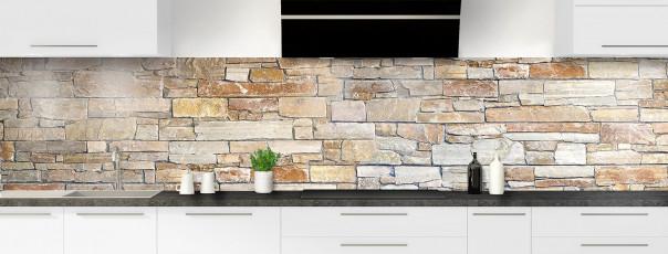 Crédence de cuisine Briques ocre panoramique