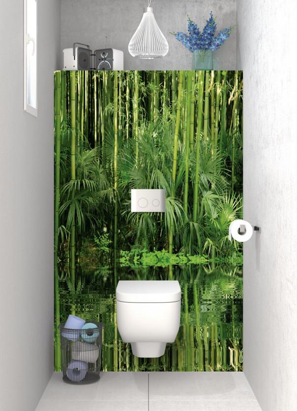 Panneau WC Bambou au bord de l'eau motif inversé