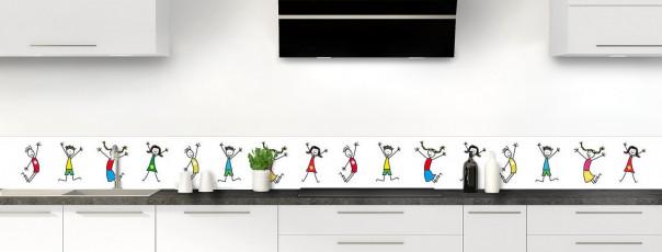Crédence de cuisine illustration Enfants  dosseret motif inversé