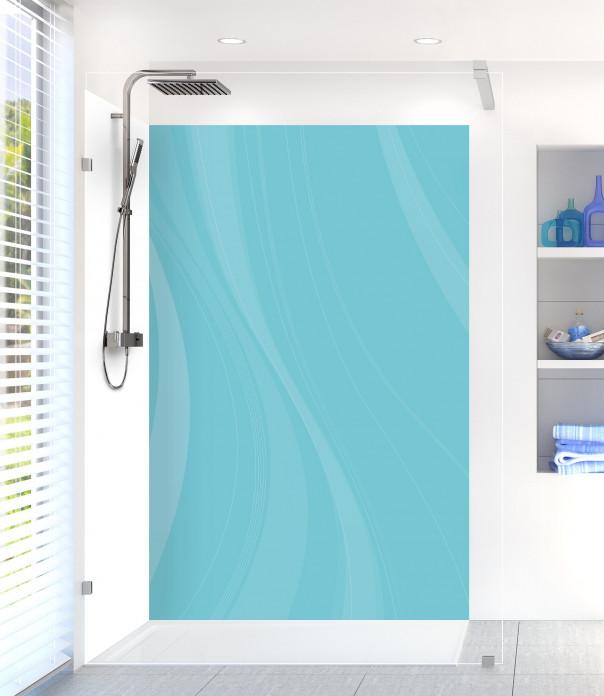 Panneau de douche Voilage couleur bleu lagon