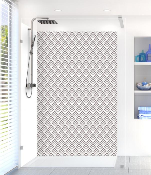 Panneau de douche Ecailles  couleur taupe