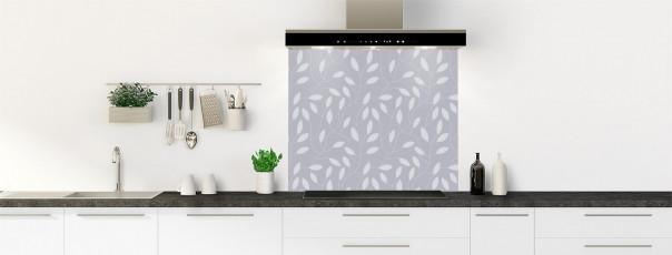 Crédence de cuisine Rideau de feuilles couleur gris métal fond de hotte
