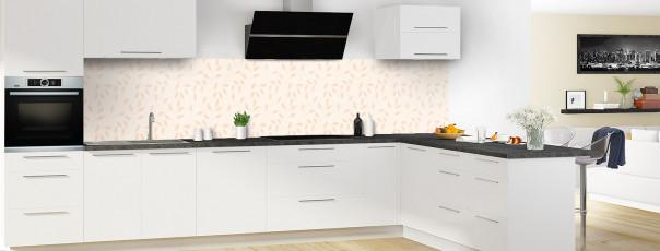 Crédence de cuisine Rideau de feuilles couleur magnolia panoramique en perspective