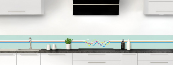 Crédence de cuisine Light painting couleur vert pastel dosseret