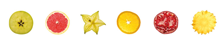 Crédence Tranches de fruits